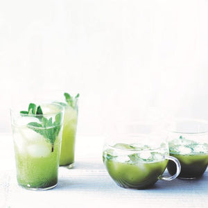 Matcha lemonade & matcha mint iced tea