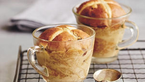 chai spiced hot cross bun bread and butter pudding recipe