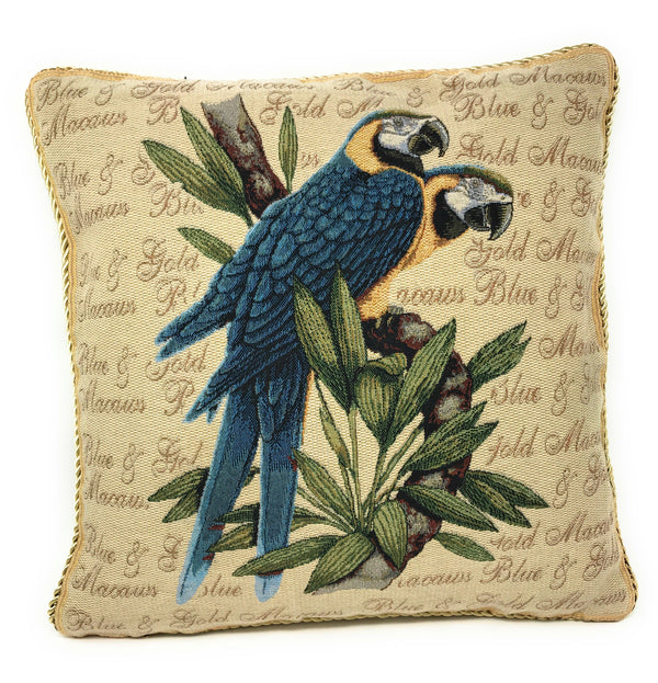 DaDa Bedding Set of Two Parrots in Love Throw Pillow Covers W/ Inserts - 2-Pcs - 18""