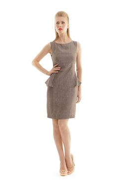 Linen Peplum Dress