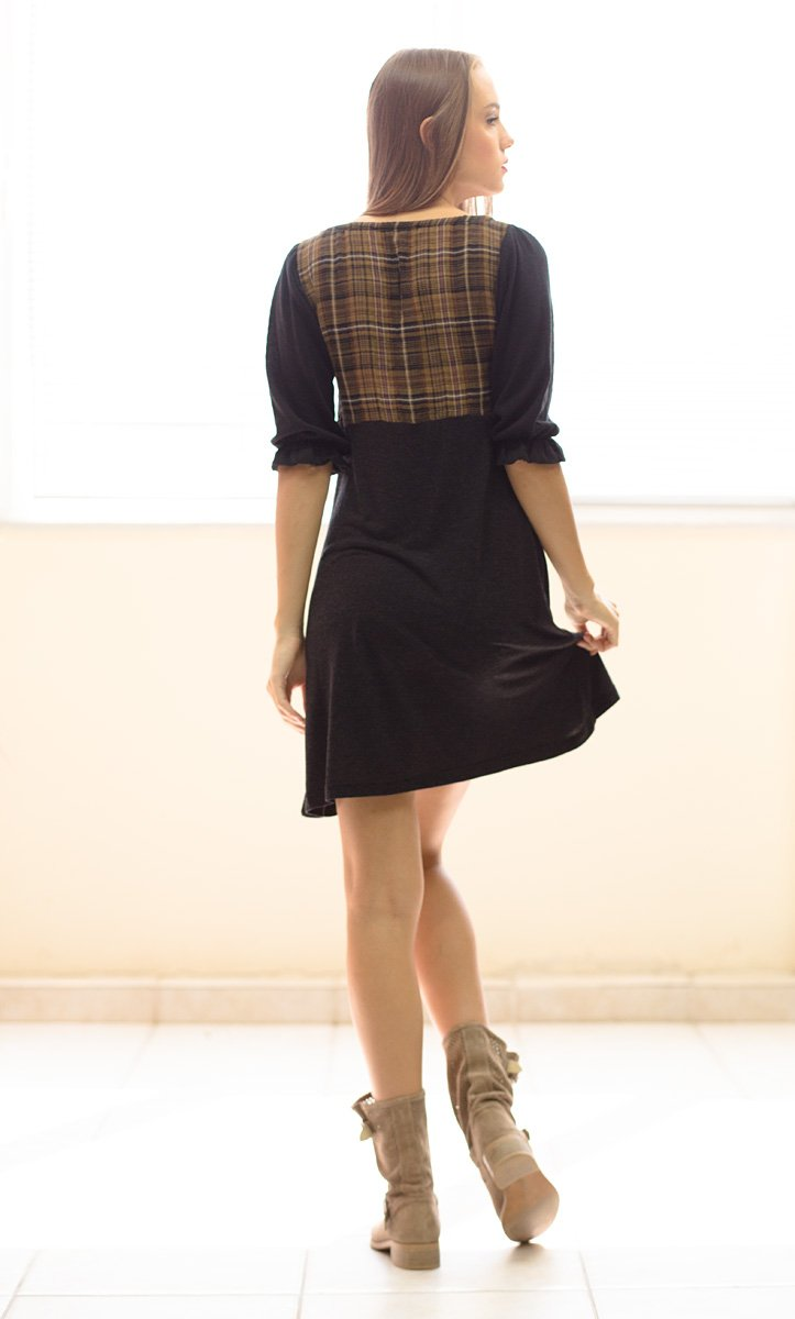 Plaid Bodice Dress