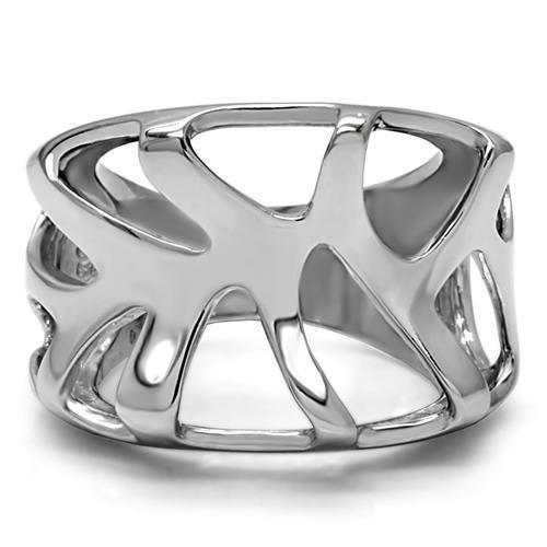 TK146 High Polished (No Plating) Stainless Steel Ring