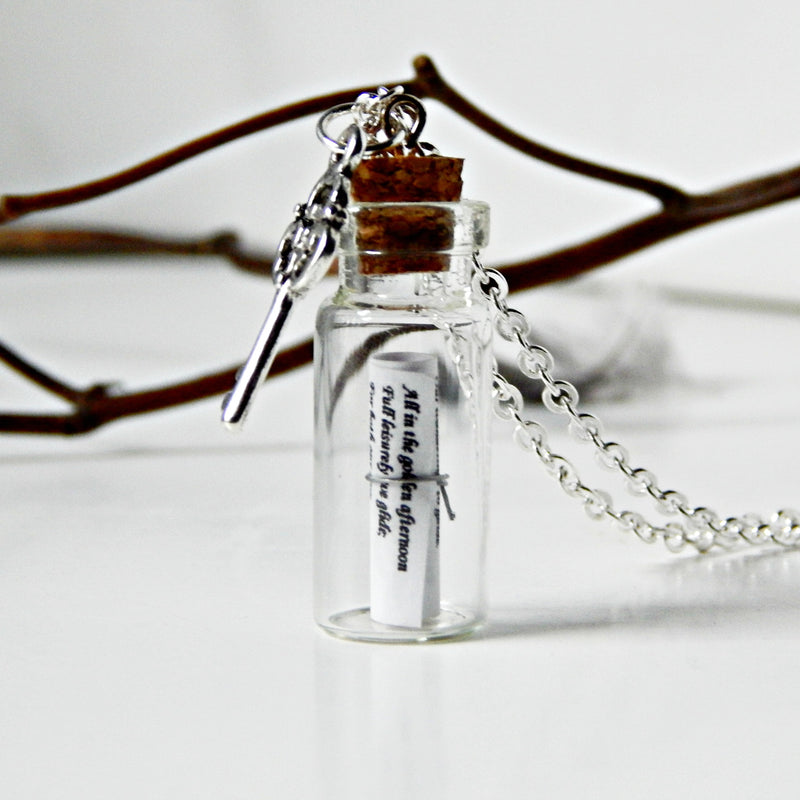 Alice in Wonderland Message in a Bottle Necklace