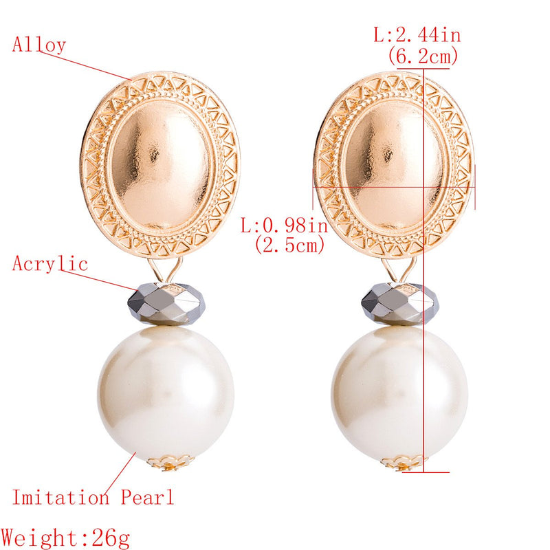 Newport  Pearl and Gold Earrings
