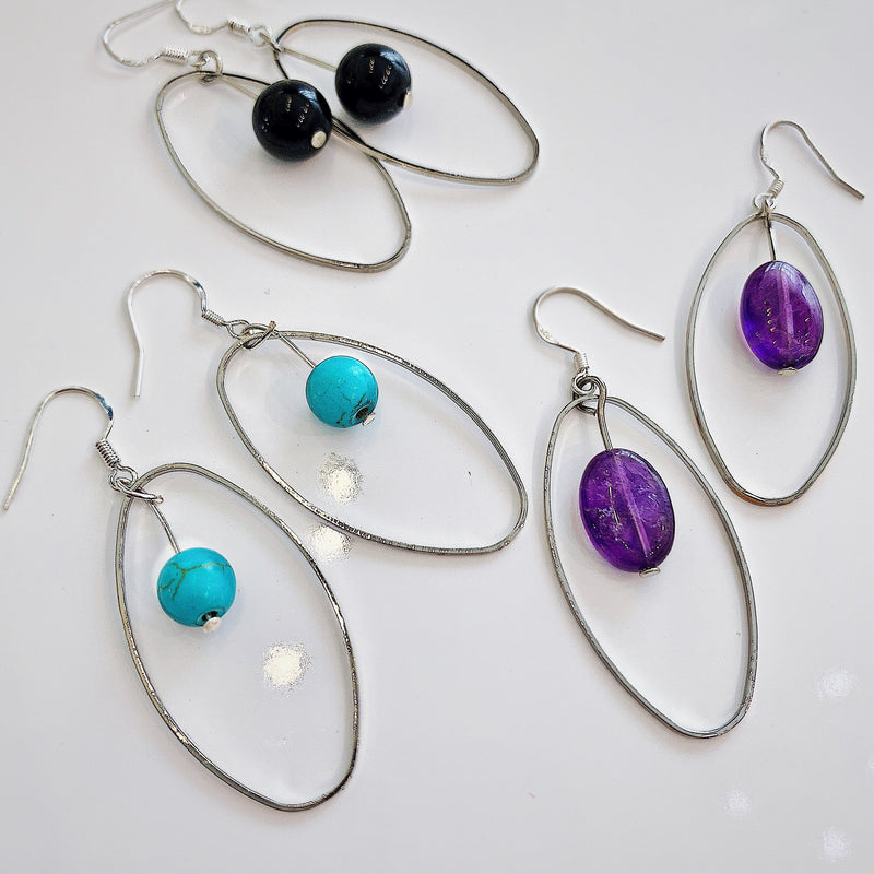 Elemental Gemstone Earrings