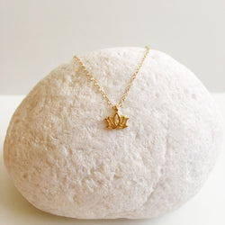 Mini Lotus 14k Gold Filled Necklace