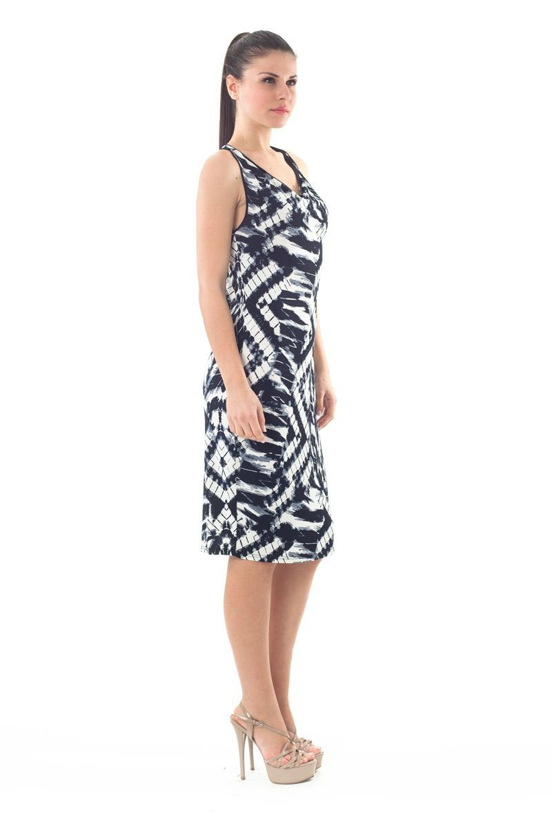 Sleeveless Allover Print Dress