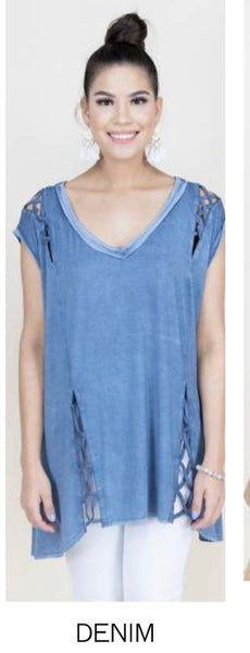 Cut-out tank tunic