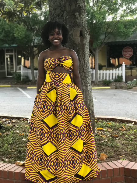 Yellow Nigerian maxi set
