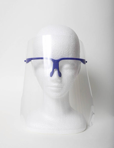 Face shield removable nose grip