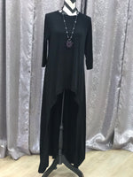 High low black tunic