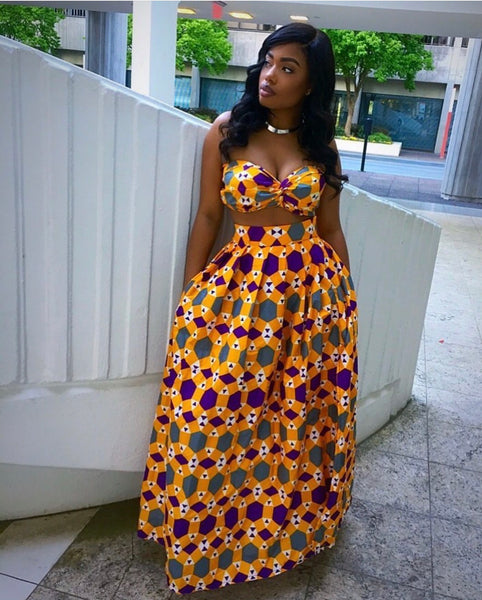 Orange Nigerian maxi set