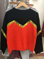 Caution tape sweater (women's)