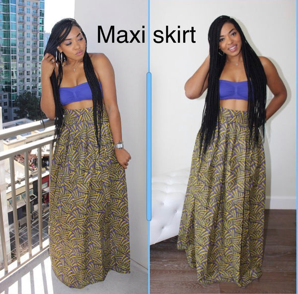 Purple Nigerian maxi