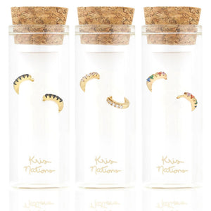 Kris Nations Pave Huggie Earrings