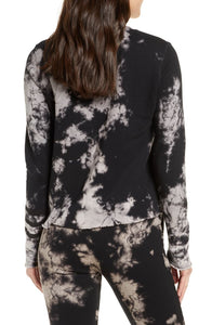 Sol Angeles Marble Pullover in Black