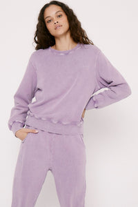 Pistola Nikki Embroidered Swestshirt in Purple Haze