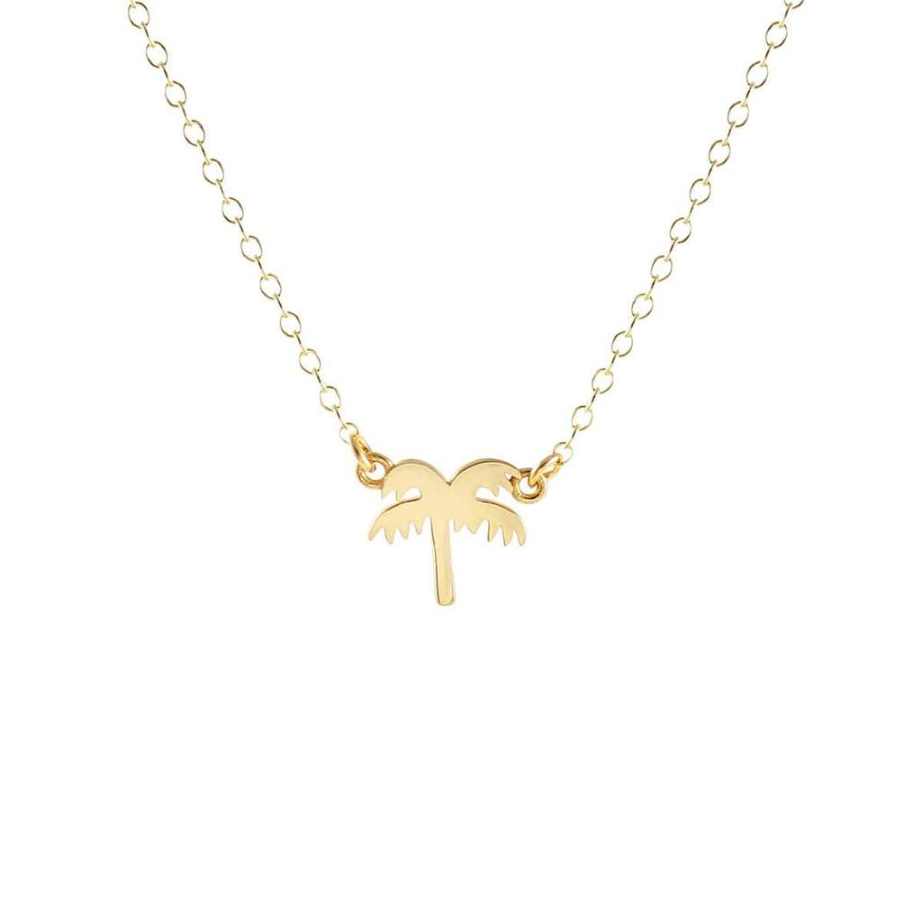 Kris Nations Palm Tree Charm Necklace