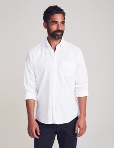 Faherty Stretch Oxford Shirt in White