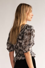 Load image into Gallery viewer, Free People XOXO Blouse in Snake