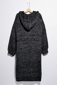 Free People Crofter Cardi in Carbon Dust Combo