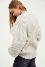 Load image into Gallery viewer, Free People Molly Cable Cardi in Heather Grey