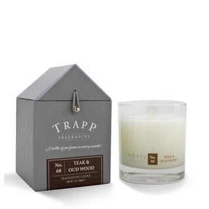 TRAPP 7oz. Poured Candle Teak & Oud Wood