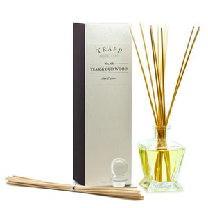 TRAPP 4.5oz Reed Diffuser Kit Teak & Oud Wood