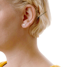 Load image into Gallery viewer, Kris Nations Bumble Bee Stud Earrings in Gold Vermeil