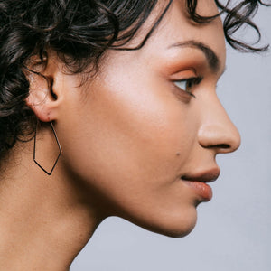 Kris Nations Small Marquis Hoop Earrings
