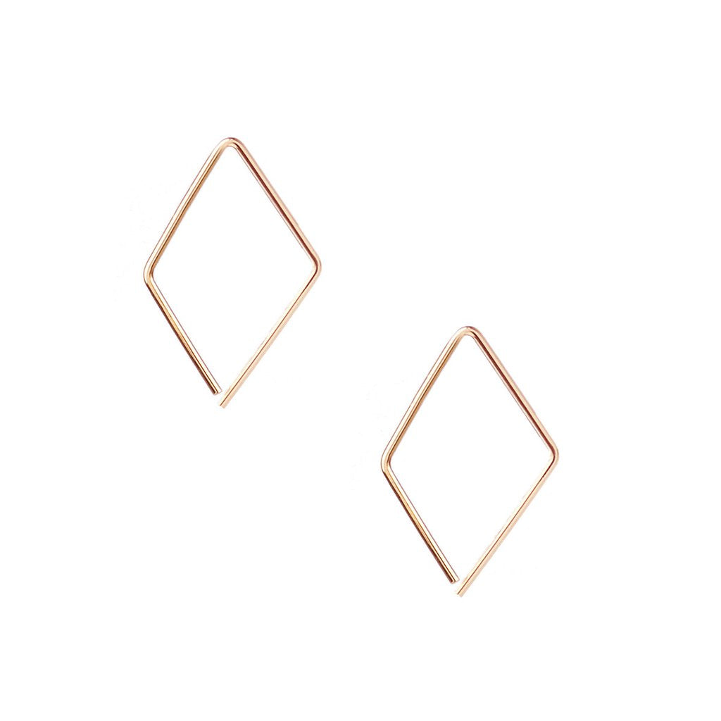 Kris Nations Kite Pull Through Hoop Earring in Gold