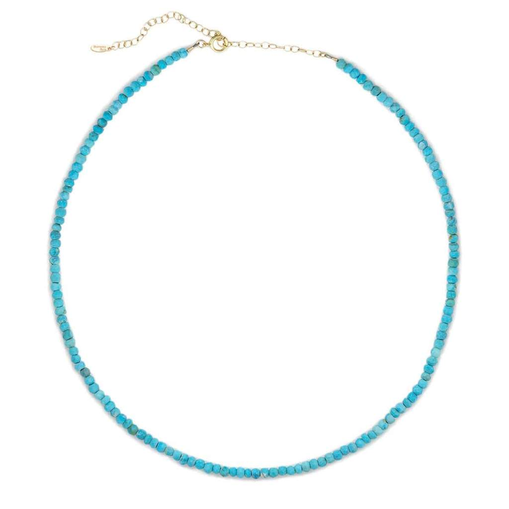 Kris Nations Turquoise Faceted Gemstone Beaded Necklace