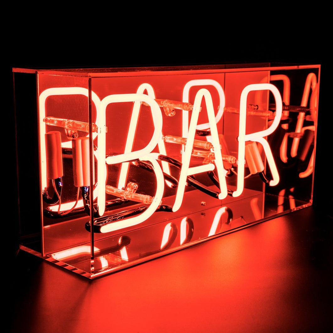 Locomocean 'Bar' Acrylic Box Neon Light - Red