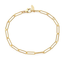 Load image into Gallery viewer, Kris Nations Thick Paperclip Chain Bracelet in Gold