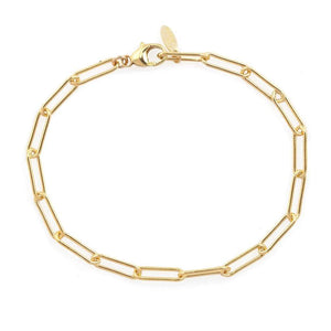 Kris Nations Thick Paperclip Chain Bracelet in Gold
