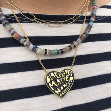 Load image into Gallery viewer, Kris Nations Black Lives Matter Now & Forever Enamel Pendant Necklace