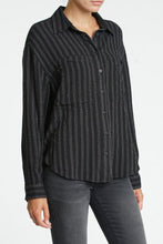 Load image into Gallery viewer, Pistola Carissa Oversized Pocket Dolman Shirt in Full Moon Stripe