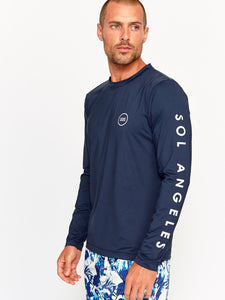 Sol Angeles Waves L/S Rashguard in Navy