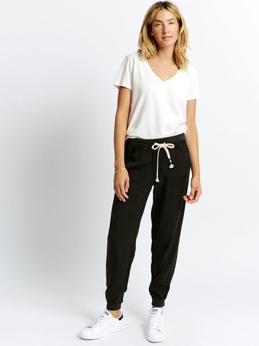 Sol Angeles Tencel Jogger In Black