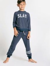 Sol Angeles Kids Waves Hacci Jogger in Indigo