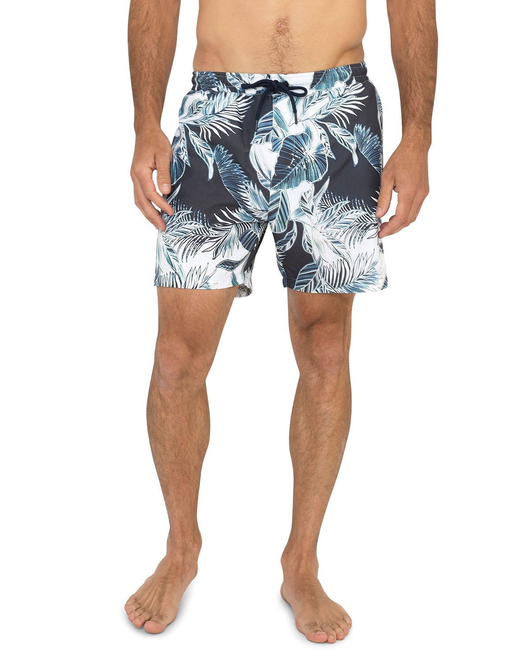 Sol Angeles Swim Short in Blue Botanics