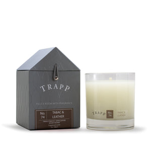 TRAPP 7oz. Poured Candle Tabac & Leather