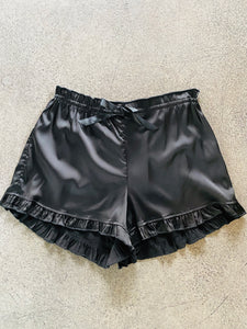 POL Silky Shorts w/Ruffled Bottom in Black