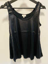 Load image into Gallery viewer, POL Satin Sleeveless Top w/Lace Detail in Black