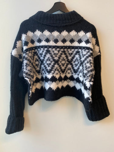 Free People Alpine Pullover in Onyx Combo