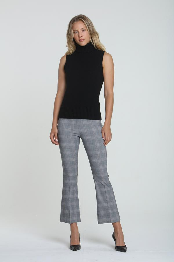 Avenue Montaigne Leo Pant In Madras Plaid
