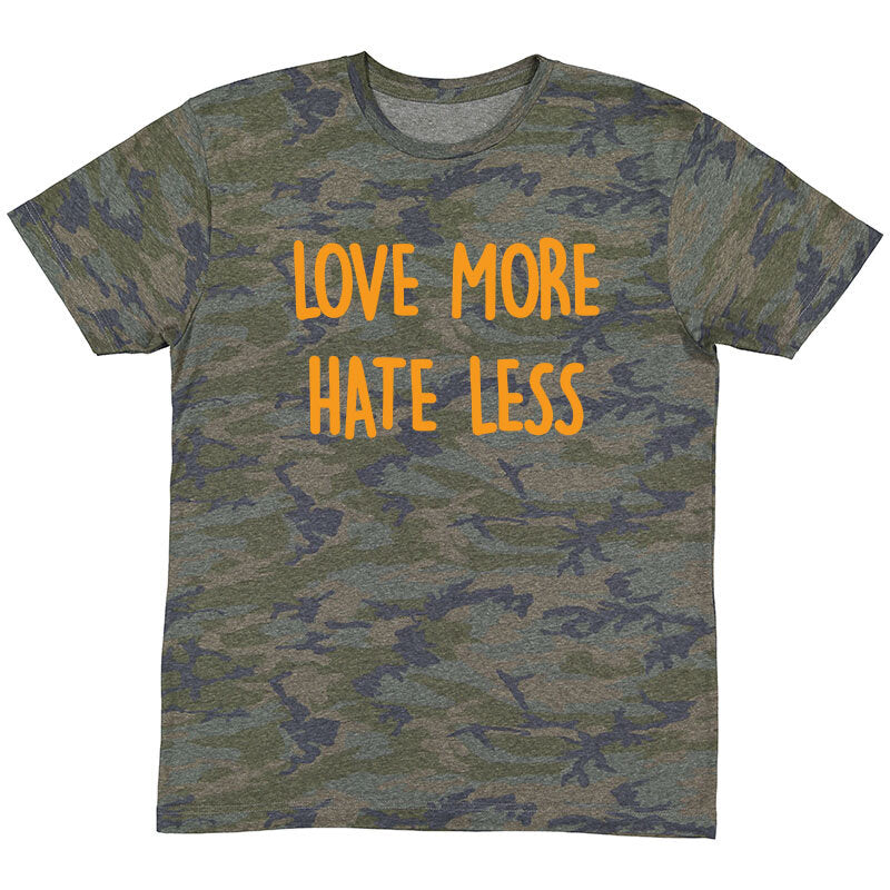 Mini Flex Kids Love More Hate Less Camo T-Shirt