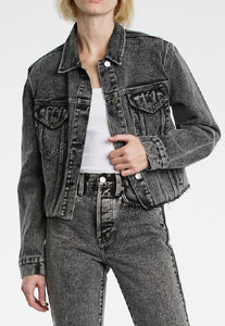 Pistola Naya Cropped Boyfriend Jacket in Salt & Pepper