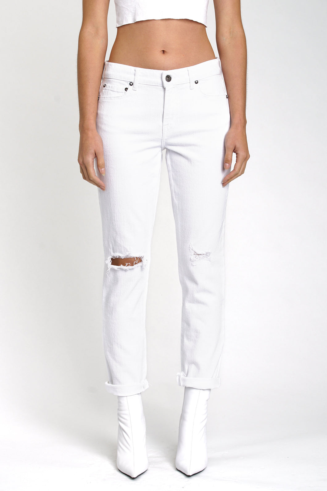 Pistola Mason Low Rise Slim Boyfriend In Ice Breaker