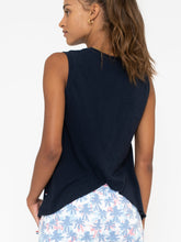 Load image into Gallery viewer, Sol Angeles Chill Cross Back Tank in Indigo